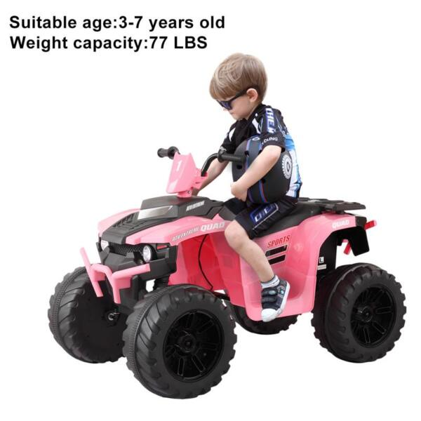 12V Electric Atv for Kids, Pink 12v electric atv for kids pink 30
