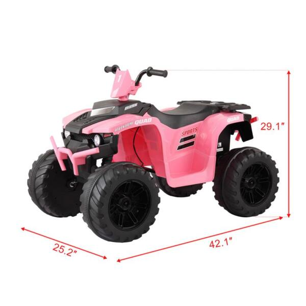 12V Electric Atv for Kids, Pink 12v electric atv for kids pink 37