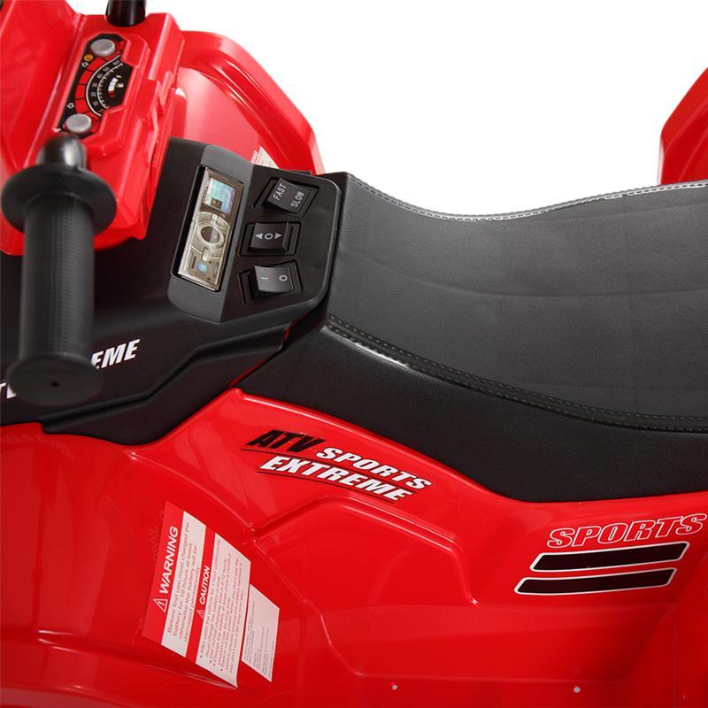 12V Battery Powered Kids Atv Ride On, Red 12v electric atv for kids red 4 1