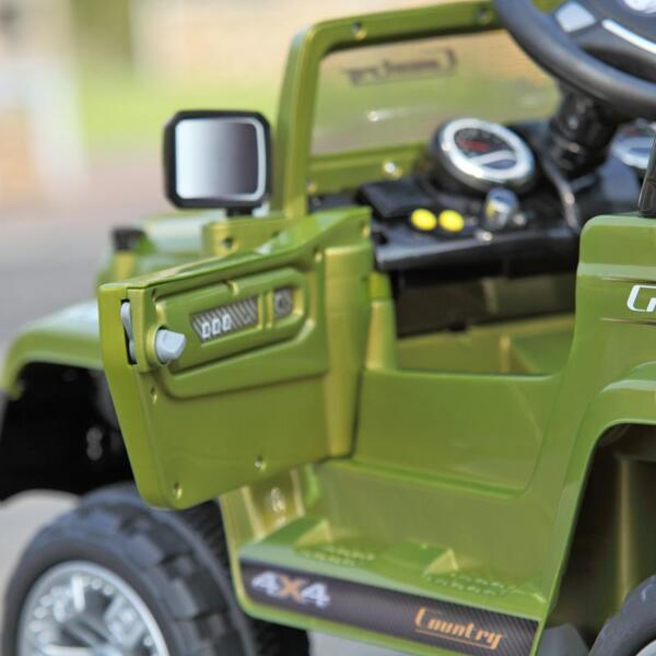 12V Powered Riding Toys Electric Truck with Remote 12v kid ride on electric truck army green 32