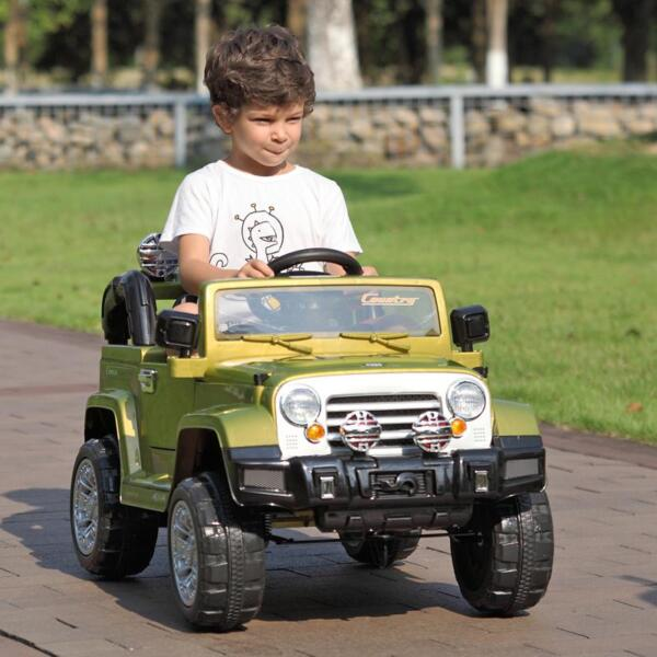 12V Powered Riding Toys Electric Truck with Remote 12v kid ride on electric truck army green 40