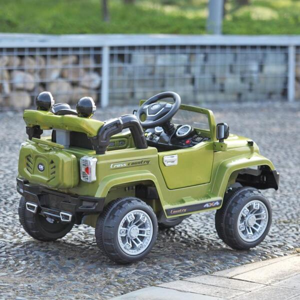12V Powered Riding Toys Electric Truck with Remote 12v kid ride on electric truck army green 41