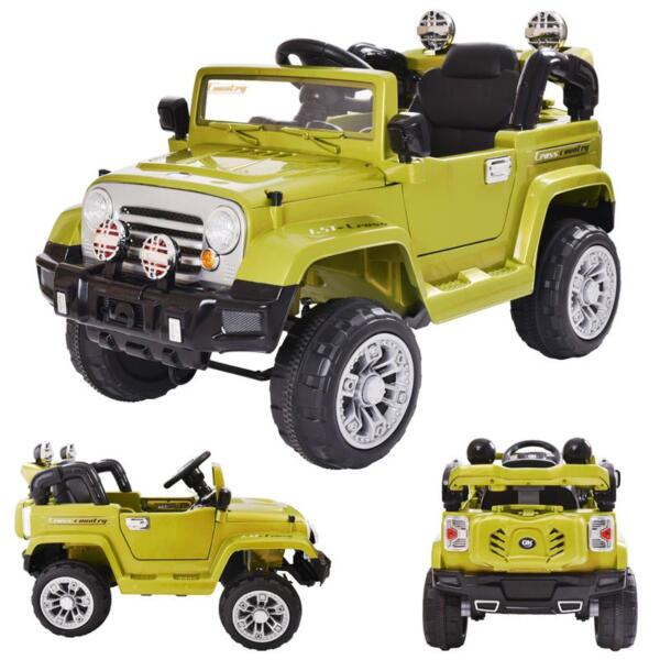 12V Powered Riding Toys Electric Truck with Remote 12v kid ride on electric truck army green 7