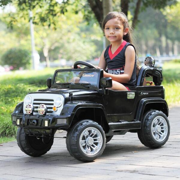 12V Kid Truck Ride on Baby Cars with Remote 12v kid ride on electric truck black 30 ride on