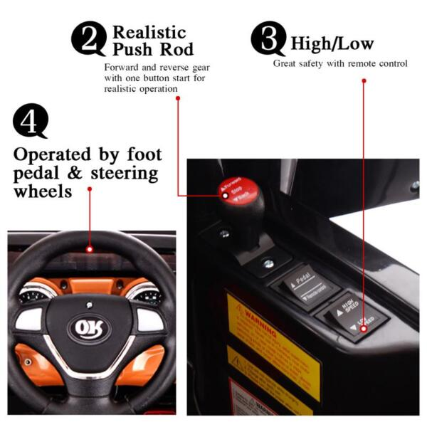 12V Kid Truck Ride on Baby Cars with Remote 12v kid ride on electric truck black 40 ride on
