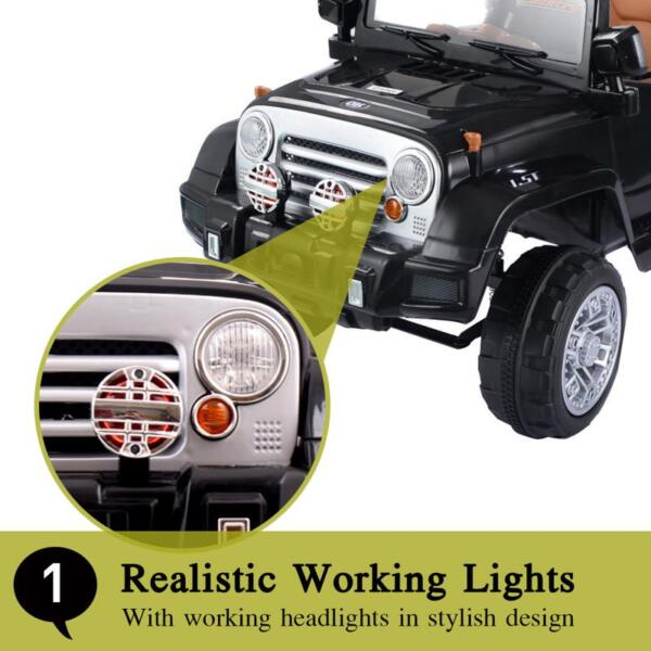 12V Kid Truck Ride on Baby Cars with Remote 12v kid ride on electric truck black 41 ride on