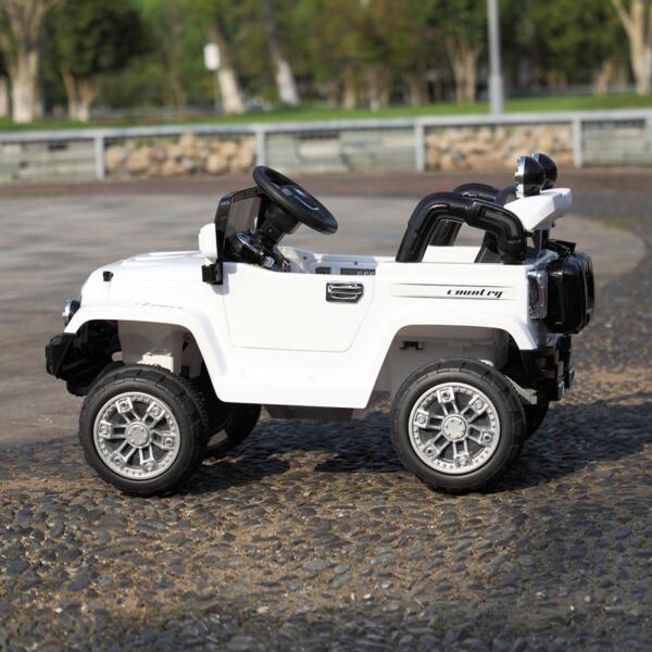 12V Kid Ride on Electric Truck Toy for Kids, White 12v kid ride on electric truck white 38