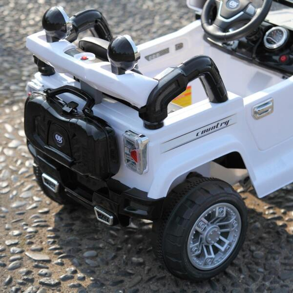 12V Kid Ride on Electric Truck Toy for Kids, White 12v kid ride on electric truck white 40