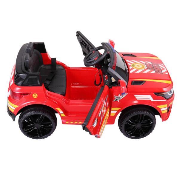 12V Kid Ride on Police Car, Red 12v kid ride on police car red 1 1