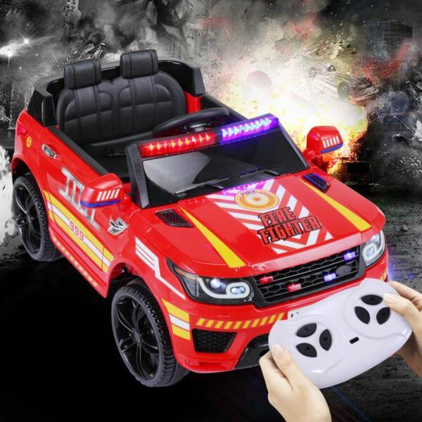 12V Kid Ride on Police Car, Red 12v kid ride on police car red 18 2