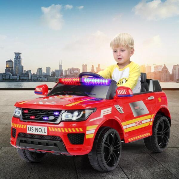 12V Kid Ride on Police Car, Red 12v kid ride on police car red 19 1