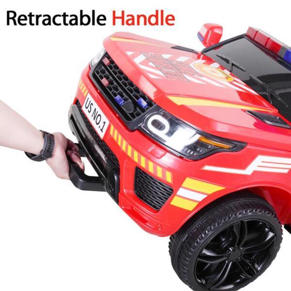 12V Kid Ride on Police Car, Red 12v kid ride on police car red 32 1