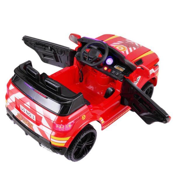 12V Kid Ride on Police Car, Red 12v kid ride on police car red 8 1