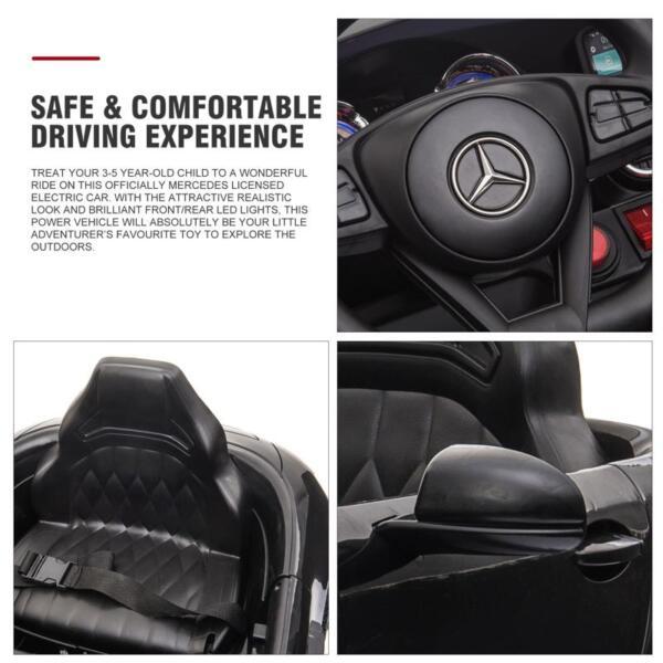 12V Mercedes AMG GT Ride On Car Kids Electric Cars with Remote, Black 12v kids electric car mercedes amg gt ride on toy black 24 2