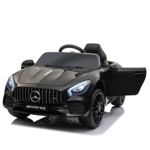 12V Mercedes AMG GT Ride On Car Kids Electric Cars with Remote, Black 12v kids electric car mercedes amg gt ride on toy black 4