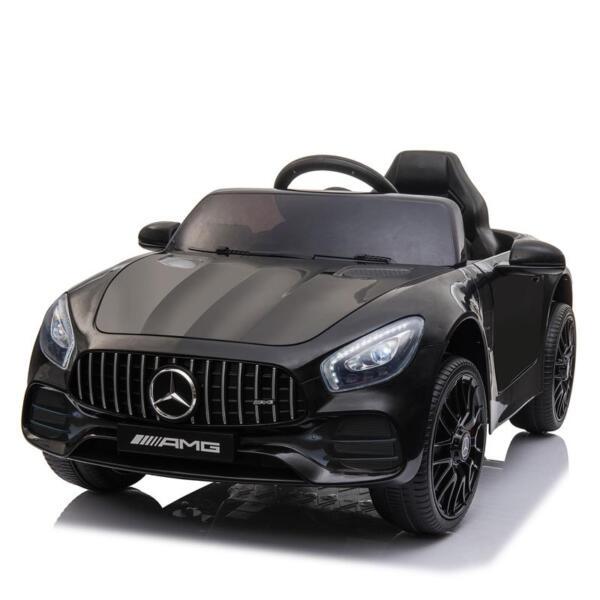 12V Mercedes AMG GT Ride On Car Kids Electric Cars with Remote, Black 12v kids electric car mercedes amg gt ride on toy black 6