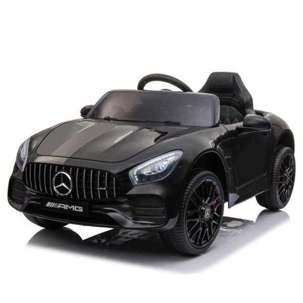 12V Mercedes AMG GT Ride On Car Kids Electric Cars with Remote, Black 12v kids electric car mercedes amg gt ride on toy black 7