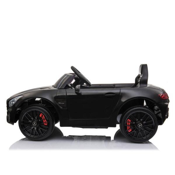 12V Mercedes AMG GT Ride On Car Kids Electric Cars with Remote, Black 12v kids electric car mercedes amg gt ride on toy black 8