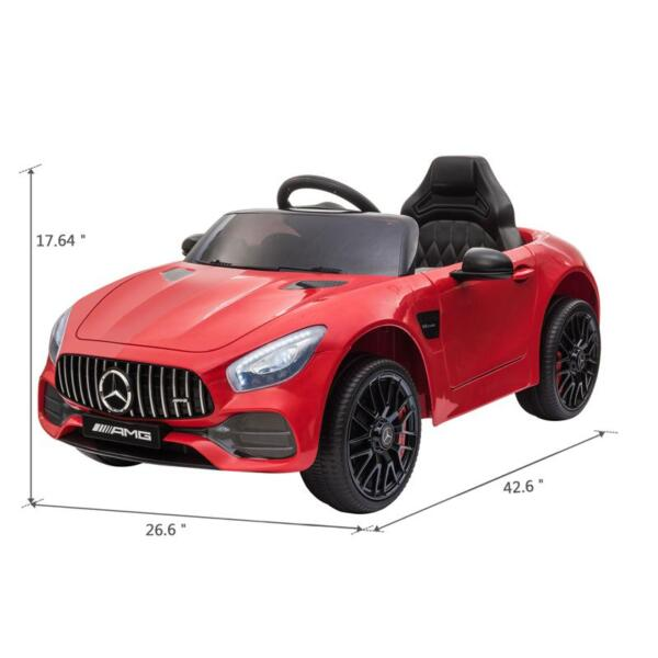 12V Mercedes AMG GT Ride On Car Kids Electric Cars with Remote, Red 12v kids electric car mercedes amg gt ride on toy red 11