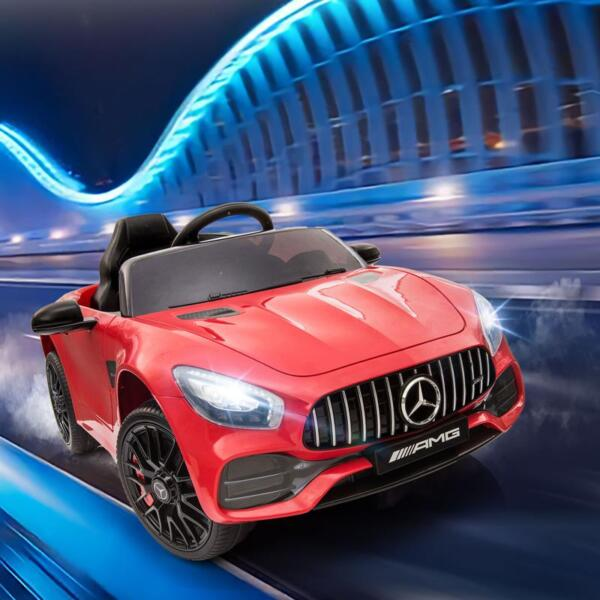 12V Mercedes AMG GT Ride On Car Kids Electric Cars with Remote, Red 12v kids electric car mercedes amg gt ride on toy red 13