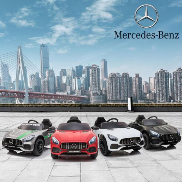 12V Mercedes AMG GT Ride On Car Kids Electric Cars with Remote, Red 12v kids electric car mercedes amg gt ride on toy red 16