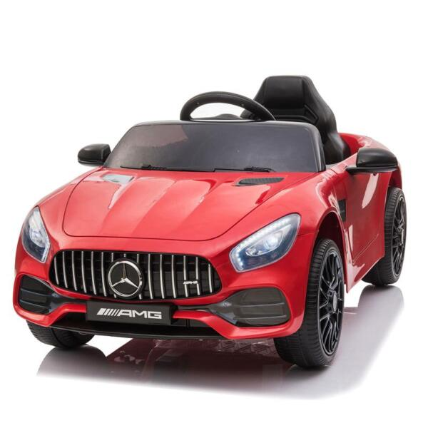 12V Mercedes AMG GT Ride On Car Kids Electric Cars with Remote, Red 12v kids electric car mercedes amg gt ride on toy red 4