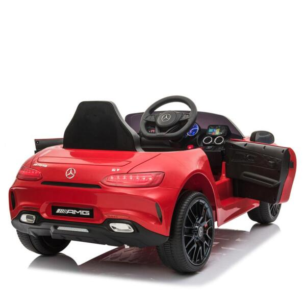 12V Mercedes AMG GT Ride On Car Kids Electric Cars with Remote, Red 12v kids electric car mercedes amg gt ride on toy red 5