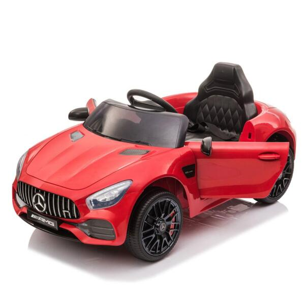12V Mercedes AMG GT Ride On Car Kids Electric Cars with Remote, Red 12v kids electric car mercedes amg gt ride on toy red 6