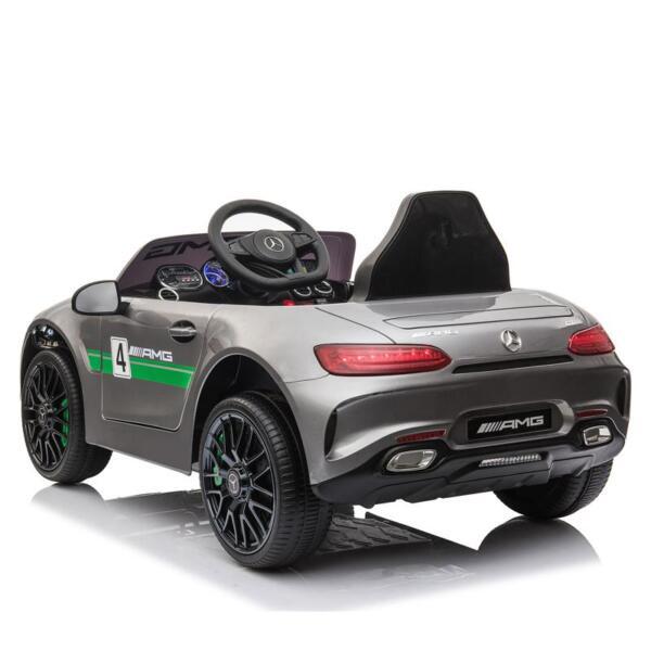 12V Kids Electric Car Mercedes AMG GT Ride On Toy, Silver Grey 12v kids electric car mercedes amg gt ride on toy silver grey 10