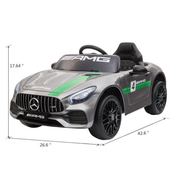 12V Kids Electric Car Mercedes AMG GT Ride On Toy, Silver Grey 12v kids electric car mercedes amg gt ride on toy silver grey 11