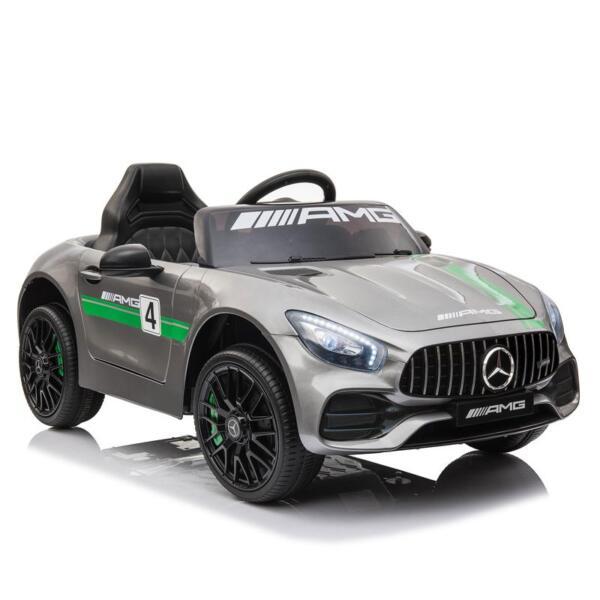 12V Kids Electric Car Mercedes AMG GT Ride On Toy, Silver Grey 12v kids electric car mercedes amg gt ride on toy silver grey 2