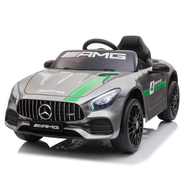 12V Kids Electric Car Mercedes AMG GT Ride On Toy, Silver Grey 12v kids electric car mercedes amg gt ride on toy silver grey 7