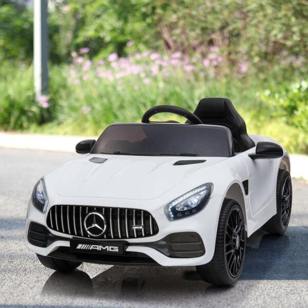 12V Kids Electric Car Mercedes AMG GT Ride On Toy, White 12v kids electric car mercedes amg gt ride on toy white 13