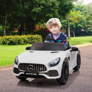 Selling 12v kids electric car mercedes amg gt ride on toy white 15 best selling on TOBBI