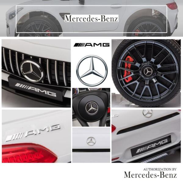 12V Kids Electric Car Mercedes AMG GT Ride On Toy, White 12v kids electric car mercedes amg gt ride on toy white 24 1