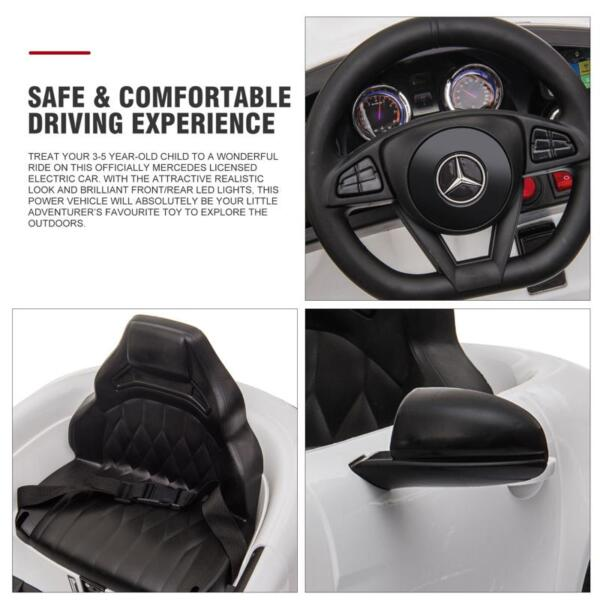 12V Kids Electric Car Mercedes AMG GT Ride On Toy, White 12v kids electric car mercedes amg gt ride on toy white 25 1