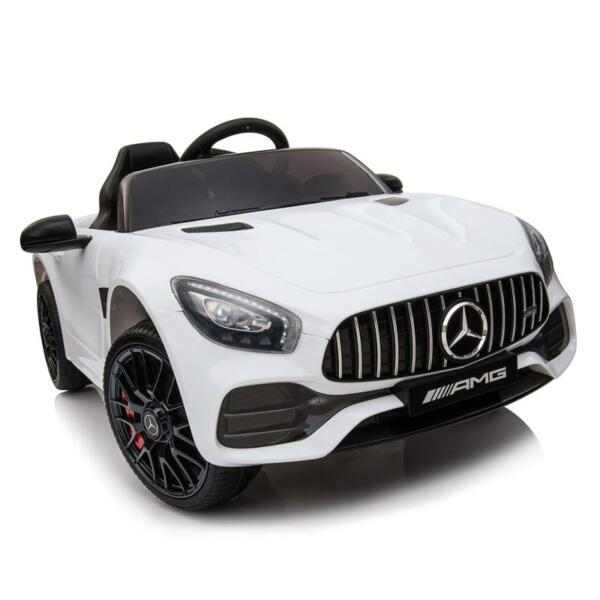 12V Kids Electric Car Mercedes AMG GT Ride On Toy, White 12v kids electric car mercedes amg gt ride on toy white 6