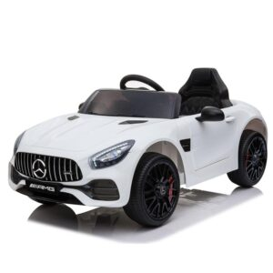 Selling 12v kids electric car mercedes amg gt ride on toy white 8 best selling on TOBBI