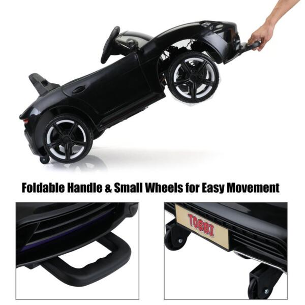 12v Kids Electric Ride On Car with Remote Control, Black 12v kids electric ride on car with remote control black 25 1