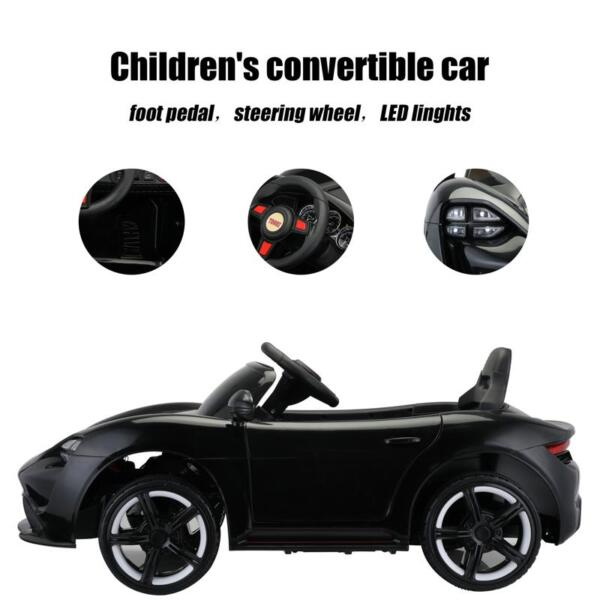 12v Kids Electric Ride On Car with Remote Control, Black 12v kids electric ride on car with remote control black 28 1