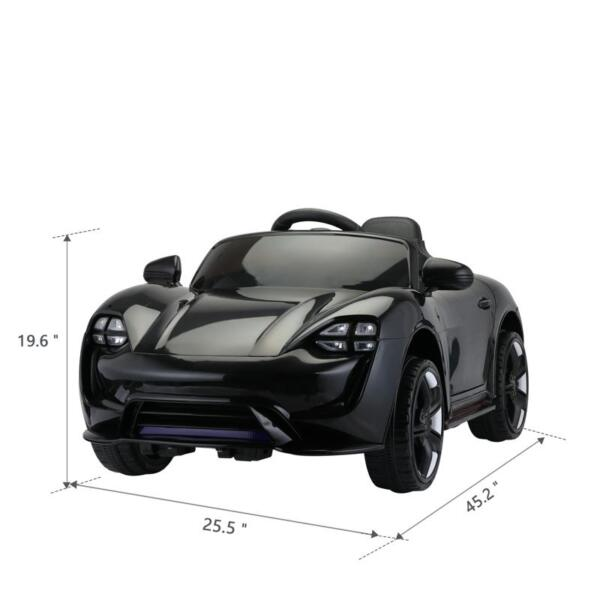12v Kids Electric Ride On Car with Remote Control, Black 12v kids electric ride on car with remote control black 8