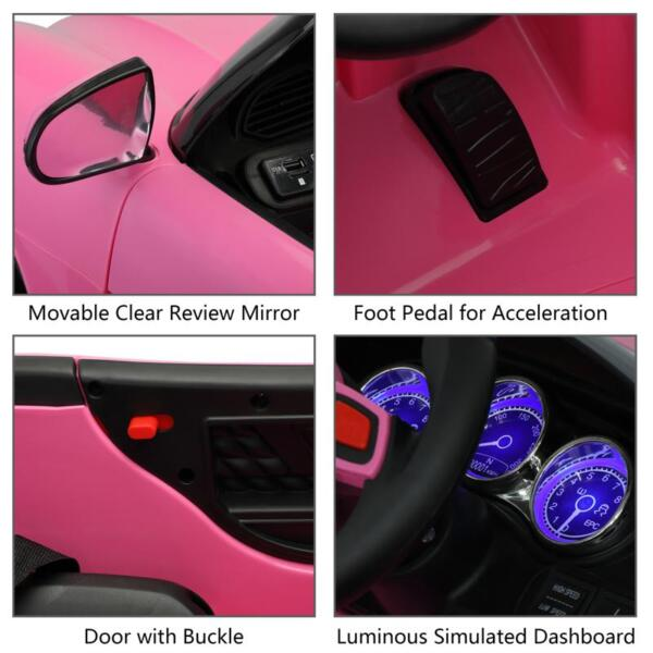 12v Kids Electric Ride On Car with Remote Control, Pink 12v kids electric ride on car with remote control pink 27