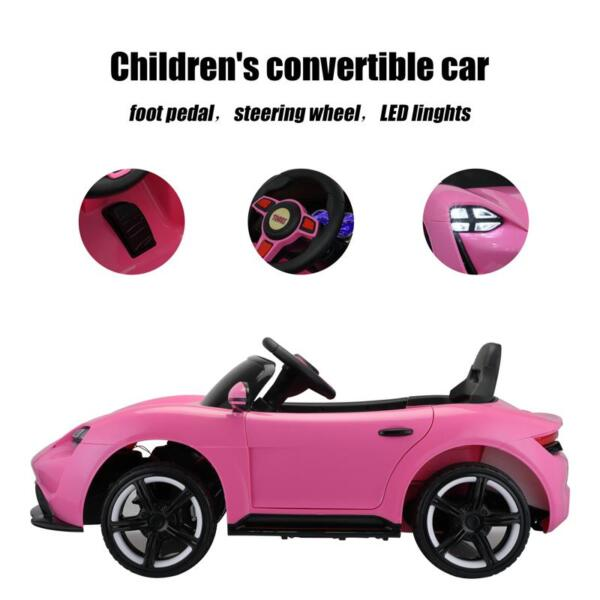 12v Kids Electric Ride On Car with Remote Control, Pink 12v kids electric ride on car with remote control pink 29 1