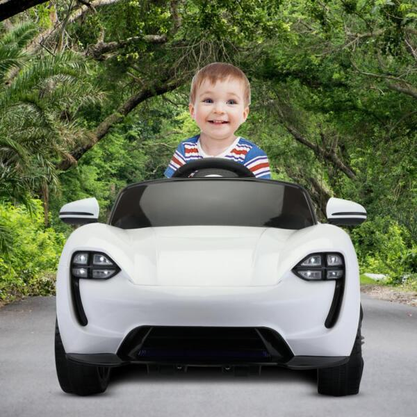 12v Kids Electric Ride On Car with Remote Control, White 12v kids electric ride on car with remote control white 12