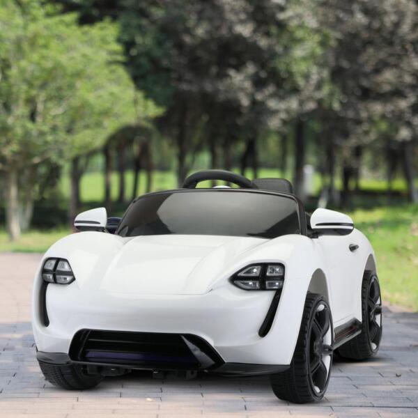 12v Kids Electric Ride On Car with Remote Control, White 12v kids electric ride on car with remote control white 13 1