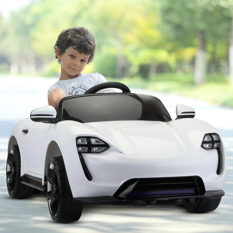 12v Kids Electric Ride On Car with Remote Control, White 12v kids electric ride on car with remote control white 14 1