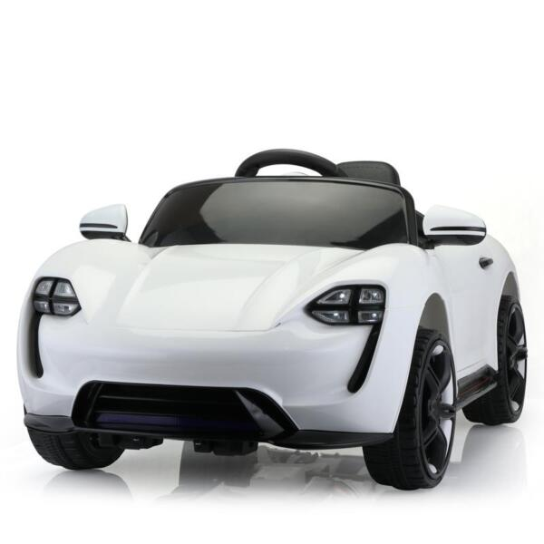 12v Kids Electric Ride On Car with Remote Control, White 12v kids electric ride on car with remote control white 2