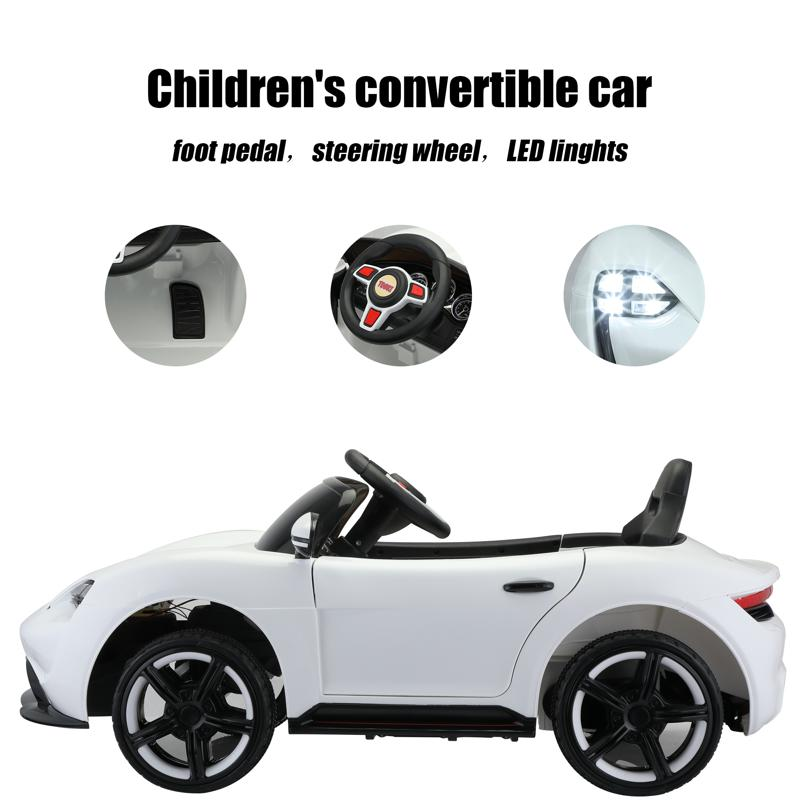 12v Kids Electric Ride On Car with Remote Control, White 12v kids electric ride on car with remote control white 28 1