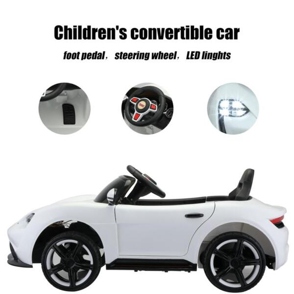 12v Kids Electric Ride On Car with Remote Control, White 12v kids electric ride on car with remote control white 28