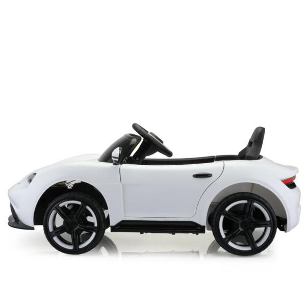 12v Kids Electric Ride On Car with Remote Control, White 12v kids electric ride on car with remote control white 4
